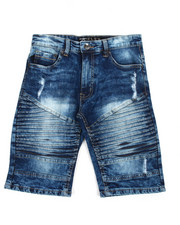 Bottoms - Stretch Biker Denim Shorts (8-20)