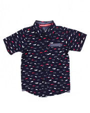 Arcade Styles - Shark All-Over Print Woven (2T-4T)