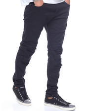 Buyers Picks - SEAMED BLOWN OUT KNEE MOTO PANT-2194017