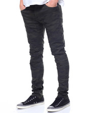 Buyers Picks - SEAMED BLOWN OUT KNEE MOTO PANT-2194023