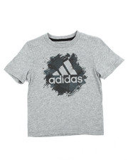 T-Shirts - Adidas Painted Badge Of Sport Tee (2-7X)