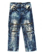 Bottoms - Indigo Dirt Moto Jeans (4-7)