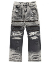 Bottoms - Grey Grease Moto Jeans (8-20)