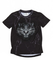 T-Shirts - Embossed Tiger Elongated Tee (4-7)