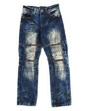 Bottoms - Indigo Dirt Moto Jeans (8-20)