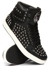 FARANZI - Lion Studded High Top Sneakers-2196057