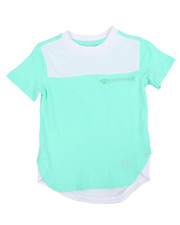 Akademiks - Mesh Color Block Elongated Tee (4-7)-2195827