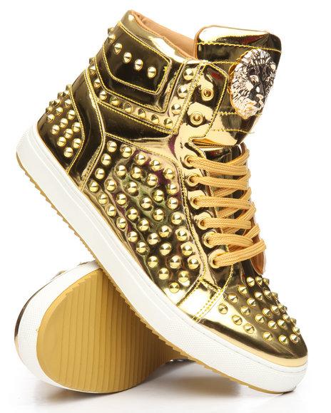 FARANZI - Lion Studded High Top Sneakers