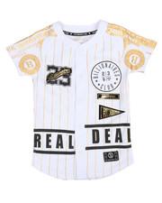Tops - Foil Print Baseball Jersey (8-20)