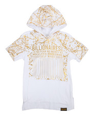 Tops - High Density Foil Print Fashion Hoodie (8-20)