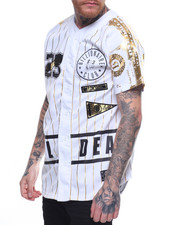 SWITCH - FOIL PRINT BASEBALL JERSEY W PIPING
