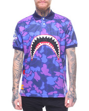 Hudson NYC - Sharkmouth Camo Polo Shirt-2197067