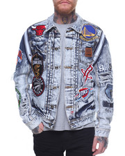 Heritage America - NBA TEAM PATCHES JEAN JACKET