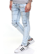 Jeans - MOTO BLEACHED RIP KNEE JEAN