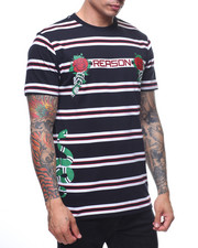 Reason - Bones And Roses Stripe Tee