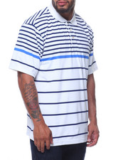 Polos - Performance Poly Stripe S/S Polo (B&T)