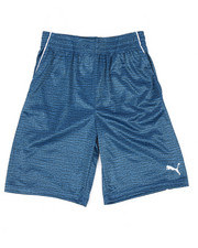 Bottoms - Screenprint Heathered Performance Shorts (8-20)