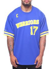 NBA, MLB, NFL Gear - S/S Golden State Warriors 17 Chris Mullin Crew Neck Tee (B&T)-2198301