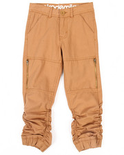 Bottoms - Twill Shirred Jogger (4-7)
