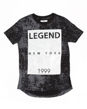 Boys - Distressed & Foil Print Elongated Tee (8-20)