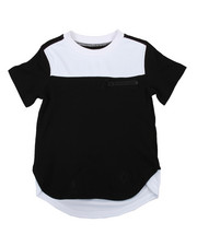 Boys - Mesh Color Color Block Elongated Tee (2T-4T)