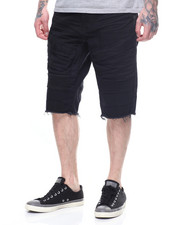 Shorts - DISTRESSED TWILL MOTO