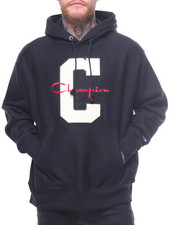 Hoodies - Reverse Weave Large C And Script Pullover Hood