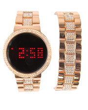Men - Blinged Out Touch Screen Watch