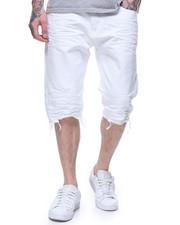 Shorts - DENIM SHORT -WHITE