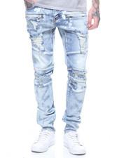 Jeans - Montana bleach Spotting Denim in Lt Stone Wash