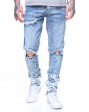 Crysp - Pacific bleached-dip Denim In Stone Wash