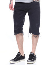 SMOKE RISE - DENIM SHORT -DENIM SHORT -BLACK-2199595