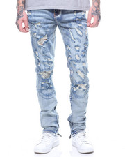 Jeans - Pacific Frontal destroy and frayed Denim In Light Wash