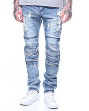 Jeans - Ali PAINT SPRAY Denim In Mid Wash