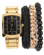 Jewelry & Watches - 4 Pc Cuban Bracelet And Watch Set-2198355