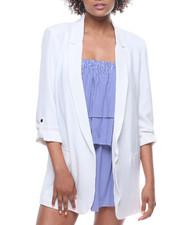 Outerwear - Oversized Blazer Roll Sleeve-2195347