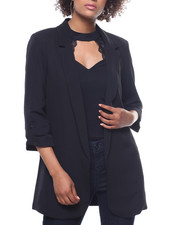 Outerwear - Oversized Blazer Roll Sleeve