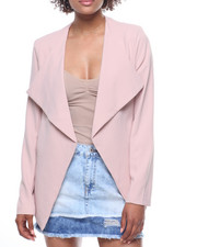 Fashion Lab - Cascade Front Blazer/Zip Pockets-2195352