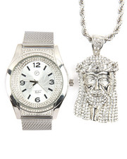 Accessories - 2 Pc Jesus Piece And Watch Set