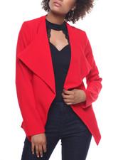 Fashion Lab - Cascade Front Blazer/Zip Pockets
