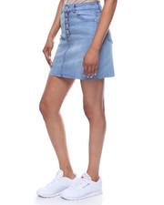 Women - 5 Button Front Denim Skirt