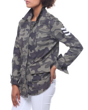 Outerwear - Camo Twill Jacket/ Back Strips