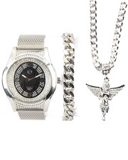 Accessories - 3 Pc Watch, Bracelet and Angel Necklace Set