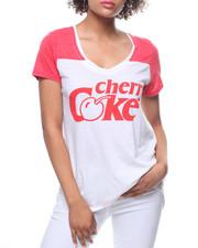 Graphix Gallery - Cherry Coke V-Neck Yoke Hi-Low Tee-2195488
