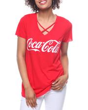 Women - Coca Cola Criss Cross Neck Tee