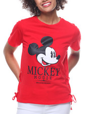 Women - Mickey Side Lace-Up Tee