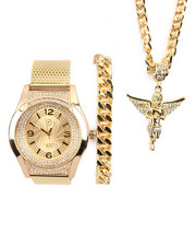 Jewelry & Watches - 3 Pc Watch, Bracelet and Angel Necklace Set-2196102