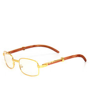 Accessories - Square Wood Frame Sunglasses-2192309