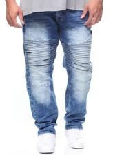 Jeans - Blue Flex Ripped Biker Denim Skinny Fit (B&T)