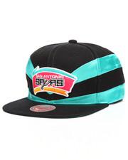 NBA, MLB, NFL Gear - San Antonio Spurs Satin Slash Snapback Hat